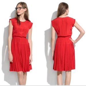 Red Madewell Silk Dress